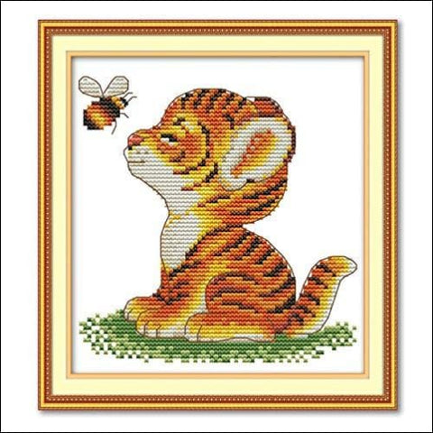 Cross Stitch Stamped Kits Quilt Pre-Printed Cross-Stitching Patterns for Beginner Kids Adults Embroidery Crafts Needlepoint Starter Kits
