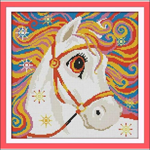 Cross Stitch Stamped Kits Quilt Pre-Printed Cross-Stitching Patterns for Beginner Kids Adults Pre-Printed Embroidery Needlepoint Starter