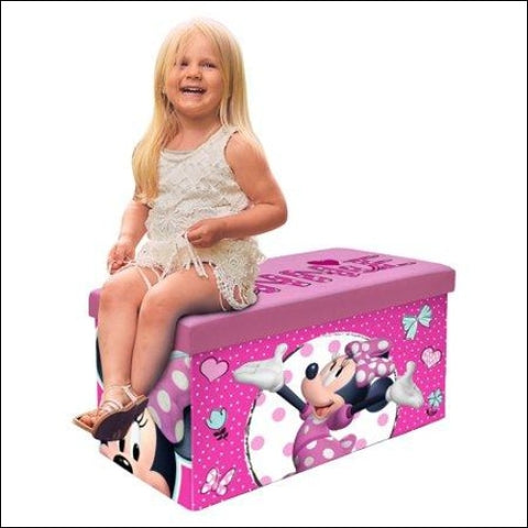 Disney Minnie Mouse Kids Sit and Store Storage Bench - Disney 0784857771077