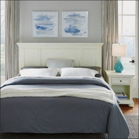 Dover White King/California King Headboard & Night Stand - Homestyles 0095385084905