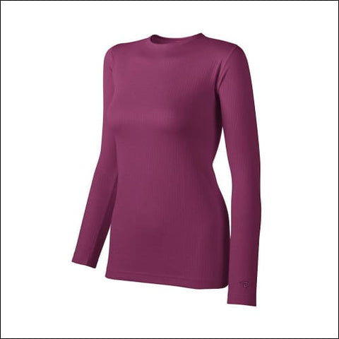 Duofold by Champion Thermals Womens Base-Layer Shirt - Berry Delight / S - Duofold 0090563597475