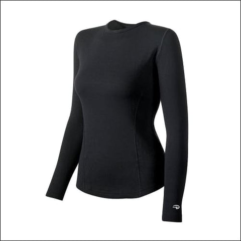 Duofold by Champion Varitherm Womens Thermal Long-Sleeve Shirt - Black / S - Duofold 0043935435554