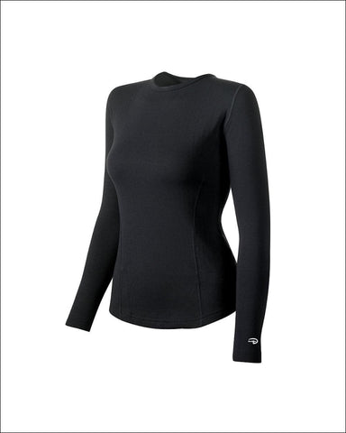 Duofold by Champion Varitherm Womens Thermal Long-Sleeve Shirt - KEW3 - Black / XL - Duofold 043935435585