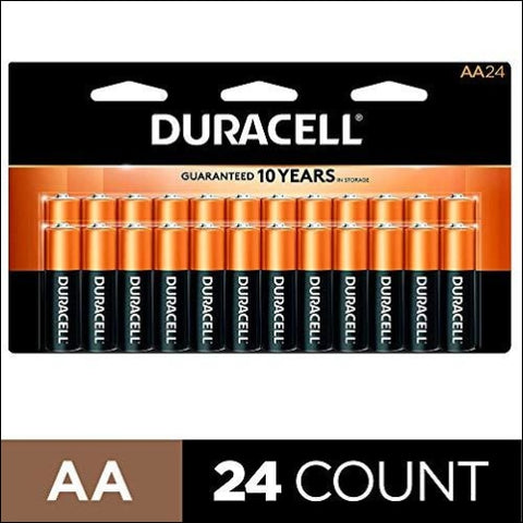 Duracell - CopperTop AA Alkaline Batteries - long lasting all-purpose Double A battery for household and business - 24 Count - Duracell