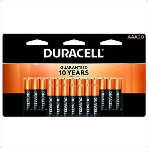 Duracell - CopperTop AAA Alkaline Batteries - long lasting all-purpose Triple A battery for household and business - 20 count - Duracell