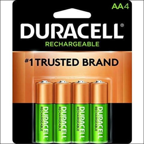 Duracell - Rechargeable AA Batteries - long lasting all-purpose Double A battery for household and business - 4 count - Duracell