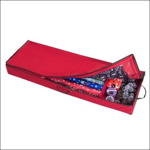 Elf Stor Christmas Storage Organizer for 30 Inch Wrapping Paper Ribbon and Bows - DTX Intl 193420000191