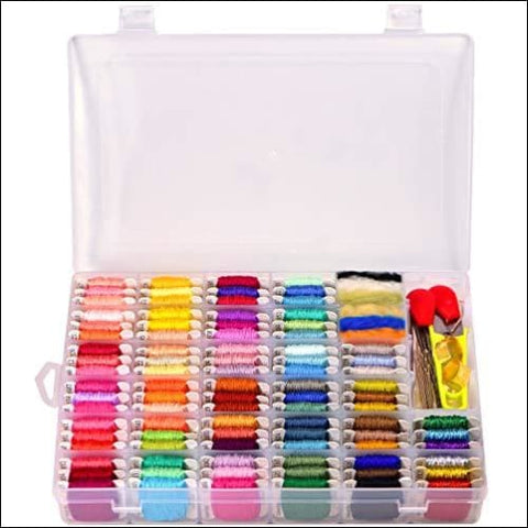 Embroidery Floss with Storage Box- Cross Stitch Threads kit - Friendship Bracelets Floss - Crafts Floss - 158 String Kits with Number