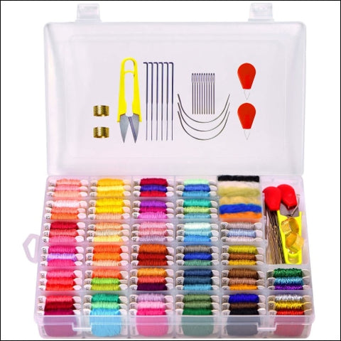 Embroidery Floss with Storage Box- Cross Stitch Threads kit - Friendship - LE PAON 0765756281799