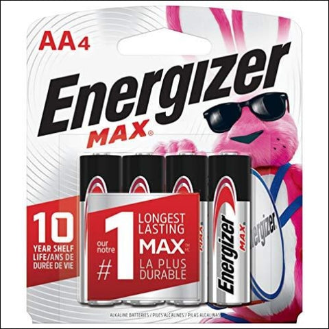 Energizer AA Batteries (4 Count) Double A Max Alkaline Battery - Packaging May Vary - Energizer 800188002830