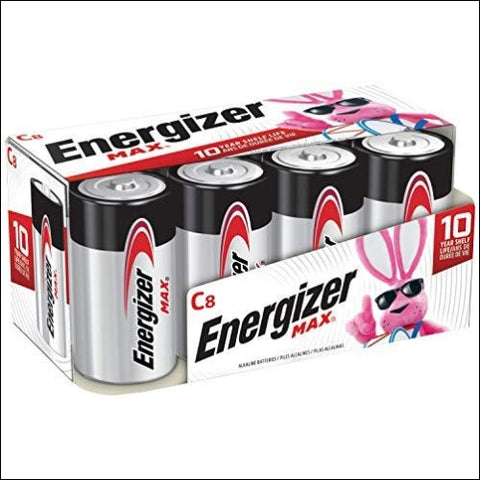 Energizer Max C Batteries Premium Alkaline C Cell Batteries (8 Battery Count) - Packaging May Vary - Energizer 39800006059