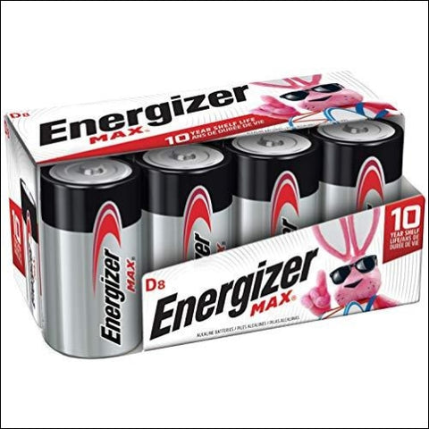 Energizer Max D Batteries Premium Alkaline D Cell Batteries (8 Battery Count) - Packaging May Vary - Energizer 88037927149