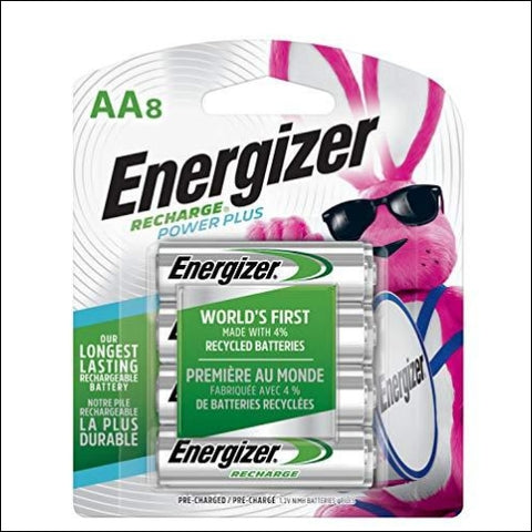 Energizer Rechargeable AA Batteries NiMH 2300 mAh Pre-Charged 8 count (Recharge Power Plus) - Packaging May Vary - Energizer 45555675839
