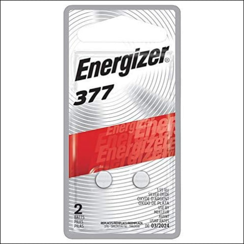 Energizer Silver Oxide 377 Batteries (2 Battery Count) - Packaging May Vary - Energizer 39800109637