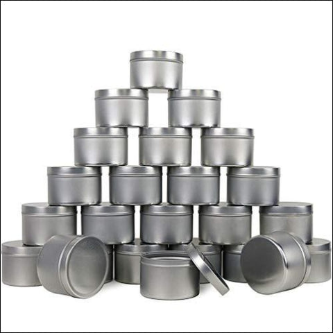 EricX Light Candle Tin 24 Piece 8 oz for Candle Making - EricX Light