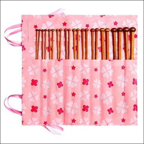 Fairycece Bamboo Knitting Needles Set Knitting Needle Case Knitting Kits for Beginners - Fairycece 0519014185585