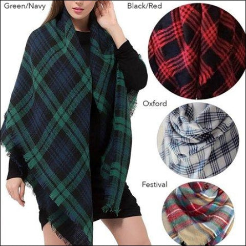 Fashionable Oversized Shawl Womens Fashion Accessories- Festival - Unike Products 0600188682168