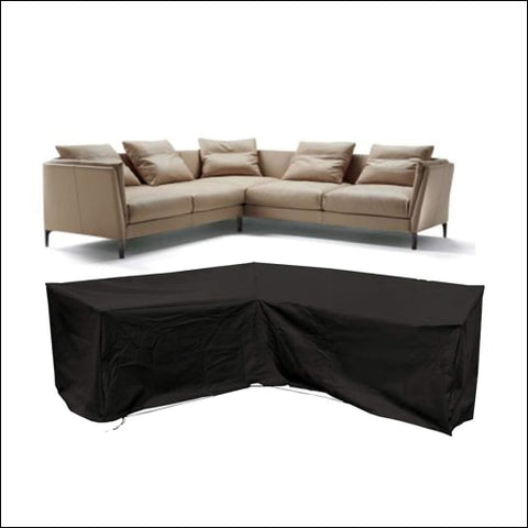 Flr Patio Furniture Cover 117X117Inches V Shaped Sectional Sofa Cover Waterproof - FLR