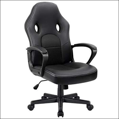 Furmax Office Chair Desk Leather Gaming Chair High Back Ergonomic Adjustable Racing Chair Task Swivel Executive Computer Chair Headrest and