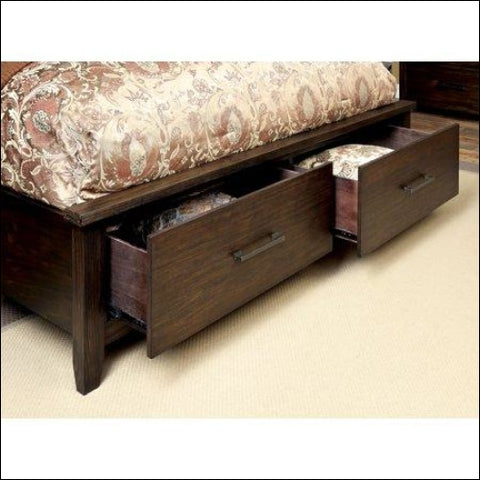 Furniture of America Raylene 2-Piece Footboard Storage Espresso Bedroom Set Multiple Sizes - Furniture of America 0889435684029