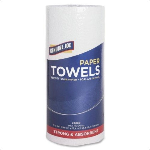 Genuine Joe 2-Ply Household Roll Paper Towels (Pack of 30) - Genuine Joe 800187809133