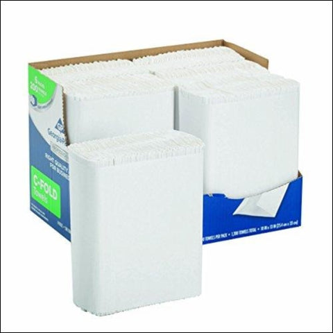 Georgia-Pacific Professional Series Premium 1-Ply C-Fold Paper Towels by GP PRO (Georgia-Pacific) White 2112014 200 Towels Per Pack 6 Packs