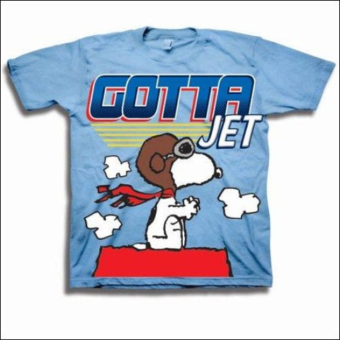 Gotta Jet Toddler Boy Short Sleeve T-Shirt - Peanuts 0887648477513