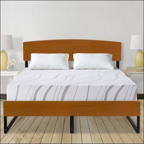 GranRest 14 Metal Platform Bed with Headboard and Footboard Full - GranRest 0889860084593