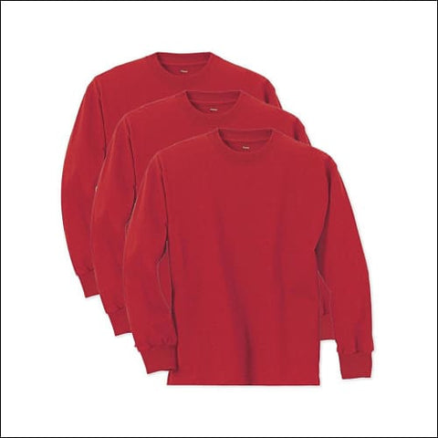 Hanes Boys ComfortSoft Long Sleeve Tee Value Pack (3-pack) - Deep Red / XS - Hanes 078715812300