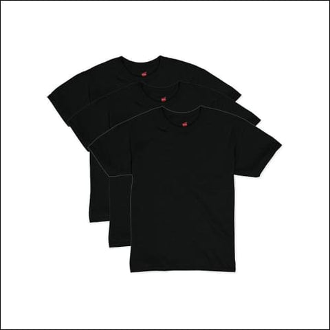 Hanes Boys EcoSmart Short Sleeve Tee Value Pack (3-pack) - Black / S - Hanes 0192503375089