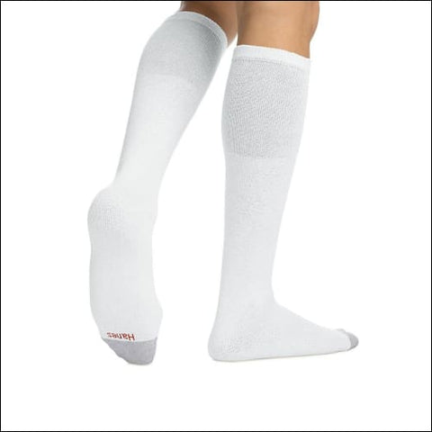 Hanes Mens Over the Calf Tube Socks 6-Pack - White / 43751 - Hanes 0038257511956