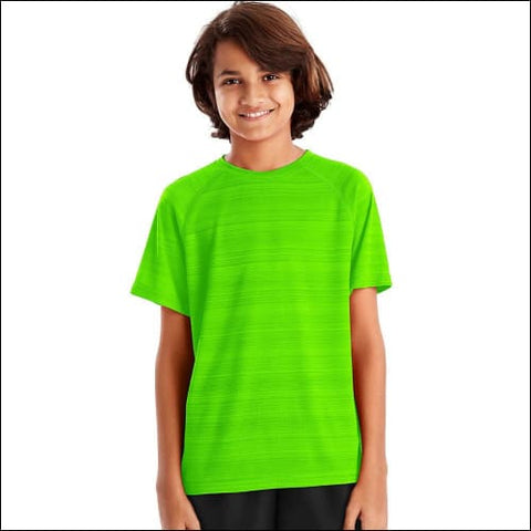 Hanes Sport™ Boys Heathered Tech Tee - Forging Green Heather / S - Hanes 0617914065409