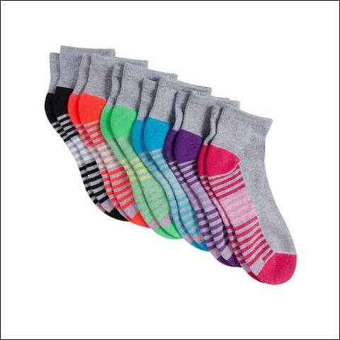 Hanes Sportäó Womens Cool Comfortäó Ankle Socks 6-Pack - Grey Assorted / 43719 - Hanes 0038257705379