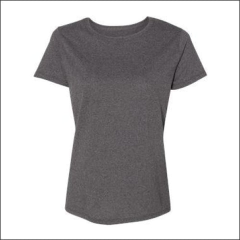 Hanes - Tagless Womens T-Shirt - Charcoal Heather / S - Hanes 00738994230379