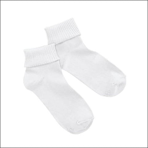 Hanes Womens ComfortSoft® Cuff Socks Extended Sizes 3-Pack - White / 43750 - Hanes 0038257691979