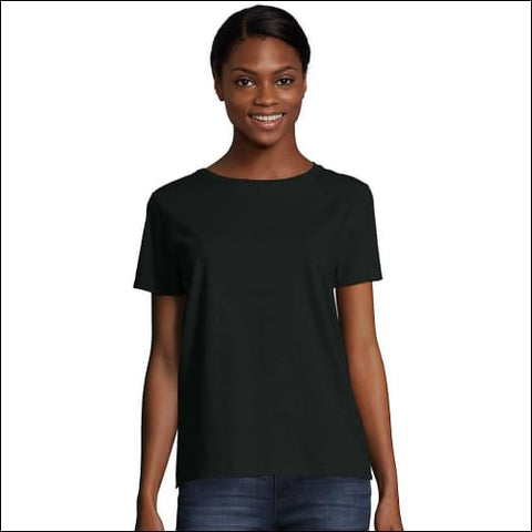 Hanes Womens Relaxed Fit Jersey ComfortSoft® Crewneck T-Shirt - Black / 3XL - Hanes 0011919255016