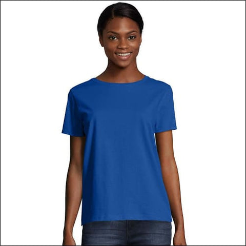 Hanes Womens Relaxed Fit Jersey ComfortSoft® Crewneck T-Shirt - Deep Royal / S - Hanes 0011919250660