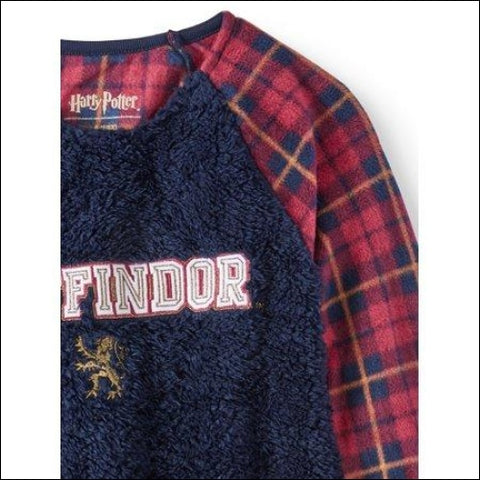 Harry Potter Gryffindor Plush Raglan Nightgown (Little Girls & Big Girls) - Harry Potter 0763059829151