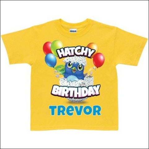 Hatchimals Hatchy Birthday Personalized Toddler Yellow T-Shirt - 2T 3T 4T 5/6T - Hatchimals 0639211585169