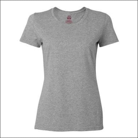 HD Cotton Womens Short Sleeve T-Shirt - Athletic Heather / S - Fruit of the Loom 00885306075408