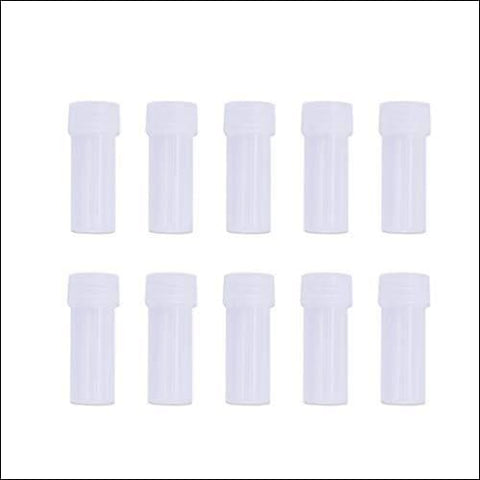Healifty Transparent Needle Storage Tube Cross-Stitch Needle Bottle Sewing Needle Case 10 Pcs - Healifty 0798187549619