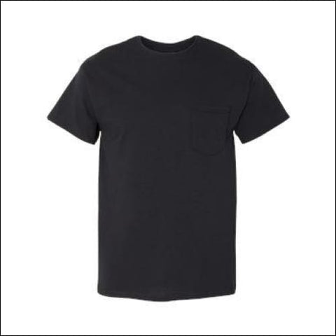 Heavy Cotton T-Shirt with a Pocket - Black / S - Gildan 821780069230