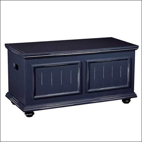 HomePop Notting Hill Wood Storage Trunk with Hinged Lid Blueberry - HomePop 0091037276278