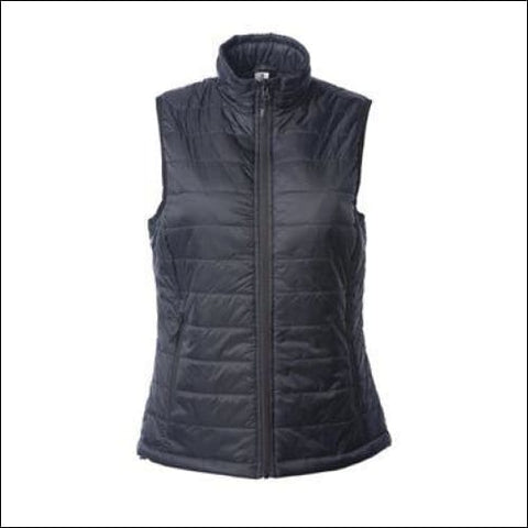 Independent Trading Co. - Womens Puffer Vest - Black / S - Independent Trading Co. 00846798347701