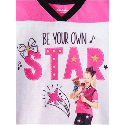 JoJo Siwa Raglan Sleep Shirt and Jogger Pant 2-Piece Pajama Set (Little Girls & Big Girls) - JoJo Siwa 0889799666815
