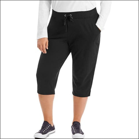 Just My Size French Terry Womens Capris - Black / 16 - J M S 090563065066