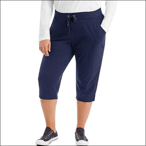 Just My Size French Terry Womens Capris - Navy / 16 - J M S 090563065103