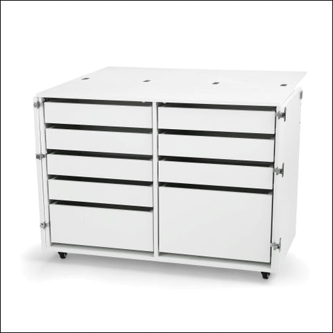 Kangaroo Kabinets K7911 Dingo Nine Drawer Sewing Storage Cabinent Ash White - Arrow Sewing Cabinets 0650873791101