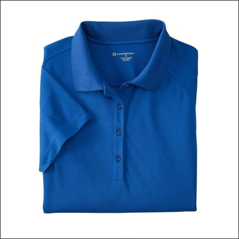 Ladies 3.8 oz. Polytech Mesh Insert Polo - TRUE ROYAL / 2XL - Harriton 00882849168420