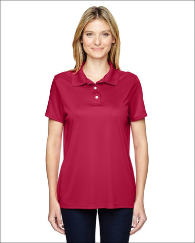 Ladies 4 oz. Cool Dri® with Fresh IQ Polo - DEEP RED / S - Hanes 00078715455156